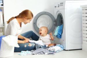 lavare i capi dei bambini